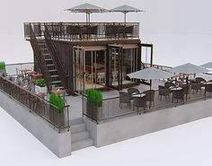 Container Cafe and Restaurant Container Coffee Shop, Container Shop, Container Home Designs, Cafe Shop Design, Cafe Interior Design, Shipping Container Restaurant, Shipping Containers, Küchen Design, House Design
