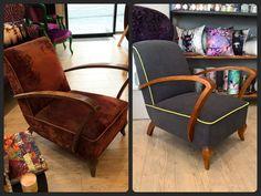 Avant/Après Fauteuil Vintage ateliers Paco Tourté Mobilier d'assise Grenoble