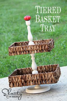 tiered basket tray