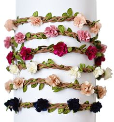 Deluxe Braided Leather Floral Headband | Children's and Baby Clothing Boutique | Bailey's Blossoms