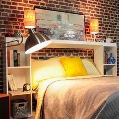 1000 Images About Diy Bookcase Headboards Bed Frames On