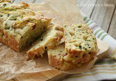 Plumcake salato alla ricotta, con zucchine e prosciutto, una soluzione veloce per utilizzare verdura o salumi che avete in frigo. Ottimo come piatto unico.