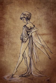 Fairy sketch by AnneKath