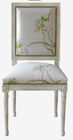 Silla de estilo Luis XVI / jacobina / de tela / patas estándar - 4791 - MOISSONNIER Louis square back dining chair