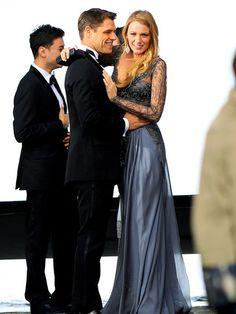 Blake Lively looks so glamorous in her floor-length gown in Star Tracks.
