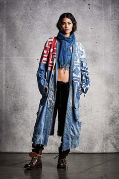 Greg Lauren's Collection Is Patchwork Precision Denim Fashion, Fashion Outfits, Womens Fashion, Kinds Of Clothes, Clothes For Women, Redone Jeans, Blue Jean Outfits, Altered Couture, Cold Weather Fashion