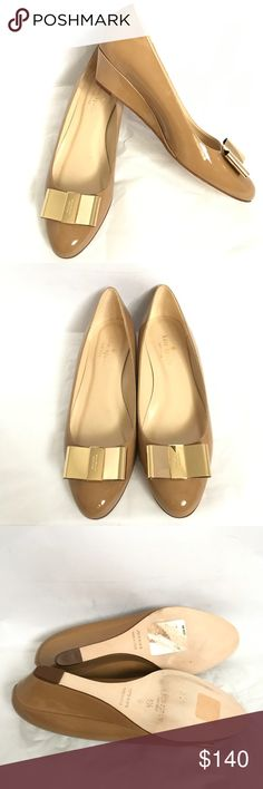 SALE! Kate Spade Patent Leather Wedge Pumps Brand new. Size 6.5. Comfy and chic. kate spade Shoes