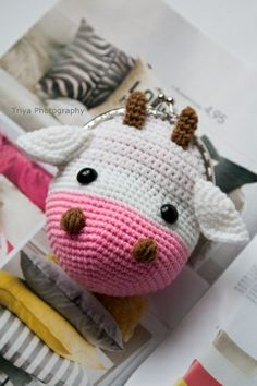 ~ Sweet wallet Cow ~ made by sweetcrochet.nl.