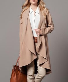 Camel Drape Coat