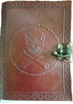 Skull & Bones leather with latch