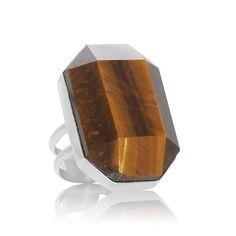 Jay King Tiger's Eye Sterling Silver Ring at HSN.com