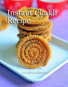 Instant Chakli Recipe , simple murukku recipe - Learn how to make easy karnataka style, crispy chakkuli recipe with rice flour and besan with step by step pictures and a video. Dry Snacks, Savory Snacks, Healthy Snacks, Gujarati Recipes, Indian Food Recipes, Gujarati Food, Coconut Recipes, Baking Recipes, Lunch Box Recipes