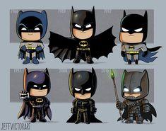Batman This Artist Adorably Illustrates How Iconic Characters Have Changed Over Time Batman Cartoon, Le Joker Batman, Spiderman, Batman Robin, Gotham Batman, Arte Dc Comics, Batman Universe, Comics Universe, Captain Marvel