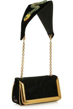 CHRISTIAN LOUBOUTIN Artemis Medusa suede shoulder bag for the Modern Gladiator  ($2,195)