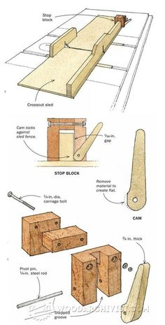 Quick-Locking Stop Block - Table Saw Tips, Jigs and Fixtures | WoodArchivist.com #woodworkingtips