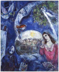 Marc Chagall, Autour d'Elle, 1945, Beaubourg centre Georges Pompidou