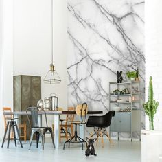 Papel pintado efecto mármol Pixers www.manualidadesytendencias.com #decoración #déco #homedecor #decoration #papelpintado #wallpaper