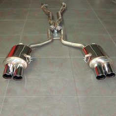 BMW 7 Series - 740d V8 Sports Exhaust with Quad Tailpipes - 1058 Stainless Steel / Titanium Sports #Exhaust systems and ECU mapping