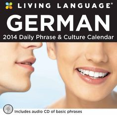 Why choose Living Language®? The answer is simple: Living Language® works! Its method is based on linguistic science, proven techniques, and more than sixty-five years of experience. The Living Language: German 2014 Day-to-Day Calendar includes basic words or phrases accompanied by English translations, a phonetic pronunciation guide for key words, and an audio CD of basic phrases. Cultural theme pages about famous buildings and landmarks are featured throughout the calendars. | $14.99