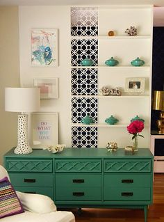 turquoise modern retro sideboard