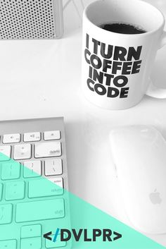 Introducing Coffee Mugs by DVLPR Gifts For Programmers, Web Development, Ale, Coffee Mugs, Goodies, Nerd, Coding, Gift Ideas, Funny