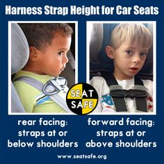 Car Seat Safety harness strap height