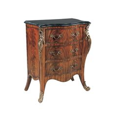 Regency Finished Mahogany Diminutive Chest of Drawers, Finely Cast Brass Accents