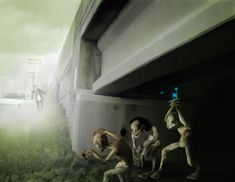 "Ohio's incredible but true case of the ""Trolls under the Bridge,"" is a tale that still haunts many locals who first heard it from their parents who lived near the Ohio River Valley. The sighting occurred one day in March of 1955, early in the morning, at 4:00 AM near Branch Hill. Robert Hunnicutt, a businessman, was casually driving home when he saw three manlike ""trolls"" kneeling on the side of the road. They were about three feet tall, had gray skin,"