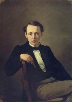 """Self-portrait"", 1851, by Vasily Perov (Russian, 1834-1882)"
