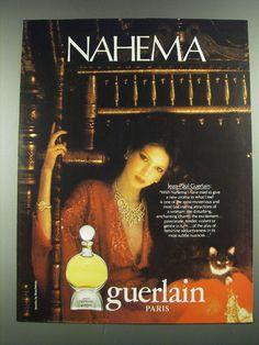 1981 Guerlain Nahema Perfume Ad | eBay