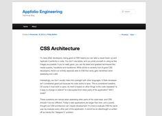 CSS Architecture - http://engineering.appfolio.com/2012/11/16/css-architecture/