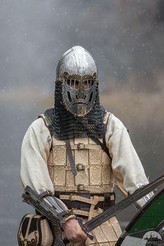 """Early viking helmet """"The Evening Star"""" Medieval Helmets, Medieval Armor, Medieval Fantasy, Armor All, Arm Armor, Chainmail Armor, Armor Clothing, Fantasy Armor, Dark Fantasy"""