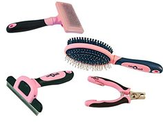 cuteNfuzzy Essential Large Pet 4 Item Grooming Kit Pink * You can find out more details at the link of the image. (Note:Amazon affiliate link)