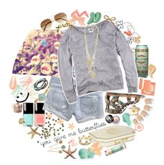 """""""i'll be here by the ocean just waiting for proof that there's sunsets and silhouette dreams."""" by kalbal ❤ liked on Polyvore featuring Juicy Couture, Chanel, Betsey Johnson, Black Poppy, American Eagle Outfitters, Victoria's Secret, Tarina Tarantino, Alexis Bittar, Urban Decay and H&M"""