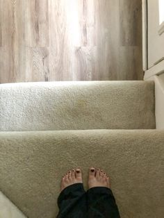 Unfinished Staircase Makeover - The Fogue Abode Blog Staircase Makeover, Staircase Ideas, Removing Carpet From Stairs, Basement Stairs, Home Projects, Bedrooms, Blog, Diy, Bricolage