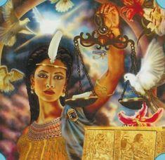 Maat - Deusa egípcia da verdade, justiça,  ordem                                                                                                                                                                                 Mais