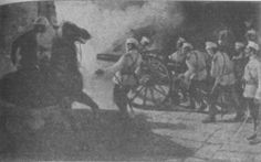 Boxer Rebellion--Russian troops storming Beijing gates 1900.gif