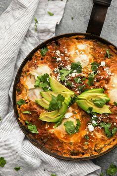 Enchilada Skillet with Eggs | Naturally Ella | Bloglovin'