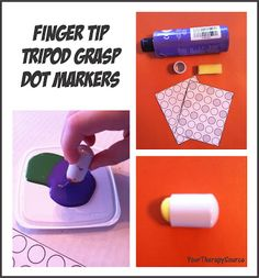 Your Therapy Source - www.YourTherapySource.com: Fingertip Tripod Grip Dot Markers