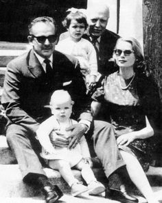 Rainier, Albert, Grace, Caroline and Prince Pierre of Polignac (Rainier's father), 1959.