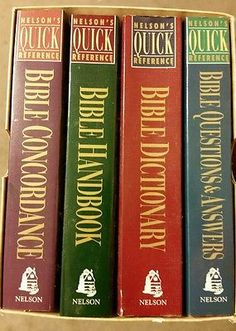 Nelson's Quick Reference Series (Paperback)4 book/boxset Bible study  guides