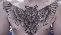 Owl Tattoo Design Ideas The Best Collection Top Rated Stylish Trendy Tattoo Designs Ideas For Girls Women Men Biggest New Tattoo Images Archive Owl Tattoo Chest, Mens Owl Tattoo, Cool Chest Tattoos, Chest Tattoos For Women, Chest Piece Tattoos, Tattoo Owl, Tattoo Animal, Aztec Tribal Tattoos, Tribal Shoulder Tattoos