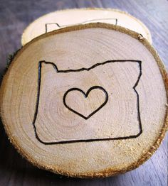 Custom State Wooden Coasters