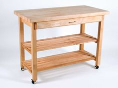 Butcher Block Islands 48 W 24 D Also A Good Idea For Converting Farm Table Into Rolling Work Bench