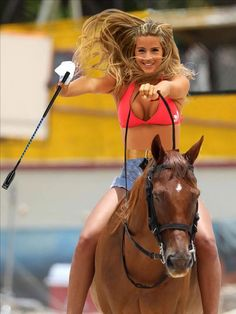 Sexy Blonde Hot Cleavage Is a Trigger - Best Hot Girls Pics Bareback Riding, Horse Riding, Hot Cheerleaders, Beautiful Horses, Girl Pictures, Cheerleading, Cool Girl, Sexy Women, Horses