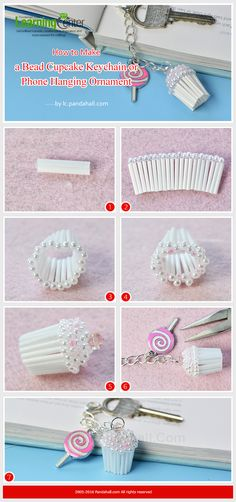 Tutorial on How to Make a Bead Cupcake Keychain or Phone Hanging Ornament from LC.Pandahall.com