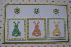 cross stitch easter bunny's....................