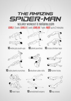 Instructions : Repeat each move with no rest in between until the set is done, rest up to 2 minutes and repeat the whole set again 3, 5 or 7 times depending on your fitness level. Download High Resolution .PDF poster