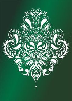 Baroque Ornament BIG SIZES Reusable Stencil Wall Decor Shabby Chic Pattern B2