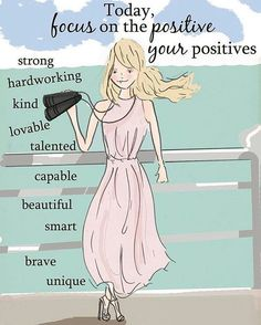 Focus on the Positive Rose Hill Designs by Heather Stillufsen Great Quotes, Quotes To Live By, Me Quotes, Motivational Quotes, Inspirational Quotes, Ellen Quotes, Positive Quotes For Women, Positive Thoughts, Positive Vibes
